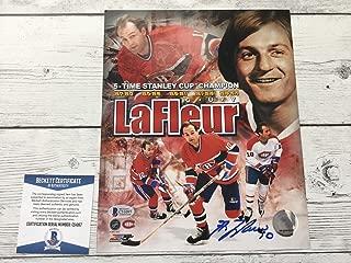 Signed Guy Lafleur Picture - 8x10 Beckett BAS COA c - Beckett Authentication - Autographed NHL Photos
