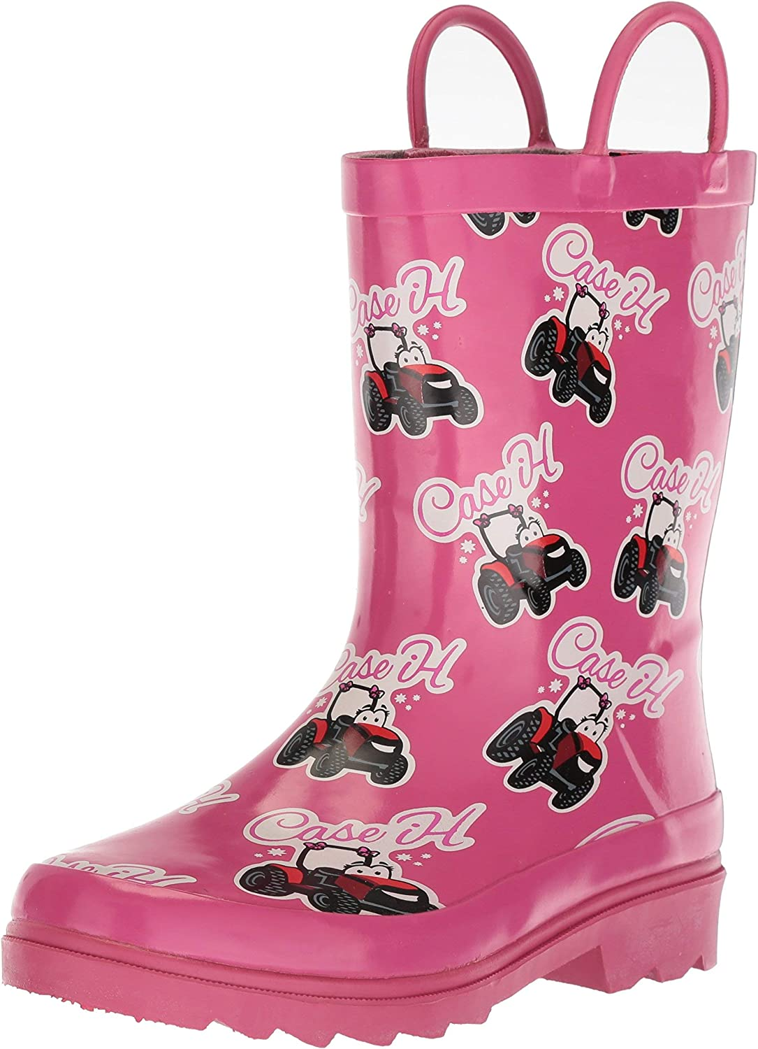 Our shop OFFers the best service Ad Tec 8 Inches Girls Pull On Non Slip New item Waterproof Rain PVC Boots