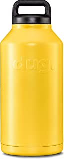 Big Dug Jug - Insulated Growler 64 Oz - Stainless Steel Jug With Handle - Yellow Scorcher