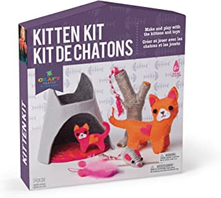 Craft-tastic – Kitten Kit – Make and Play Kit Includes Cat and Kitten-Themed Craft Projects