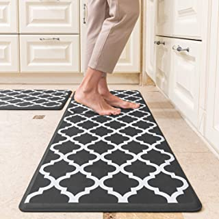 """Anti-Fatigue Kitchen Mats and Rugs, 1/2"""" Comfortable Cushioned Standing Mat, Water-Proof Kitchen Floor Mats for in Front o..."""