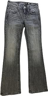 Miss Me Girl Grey Fleur De Lis Boot Cut Jeans Size 10