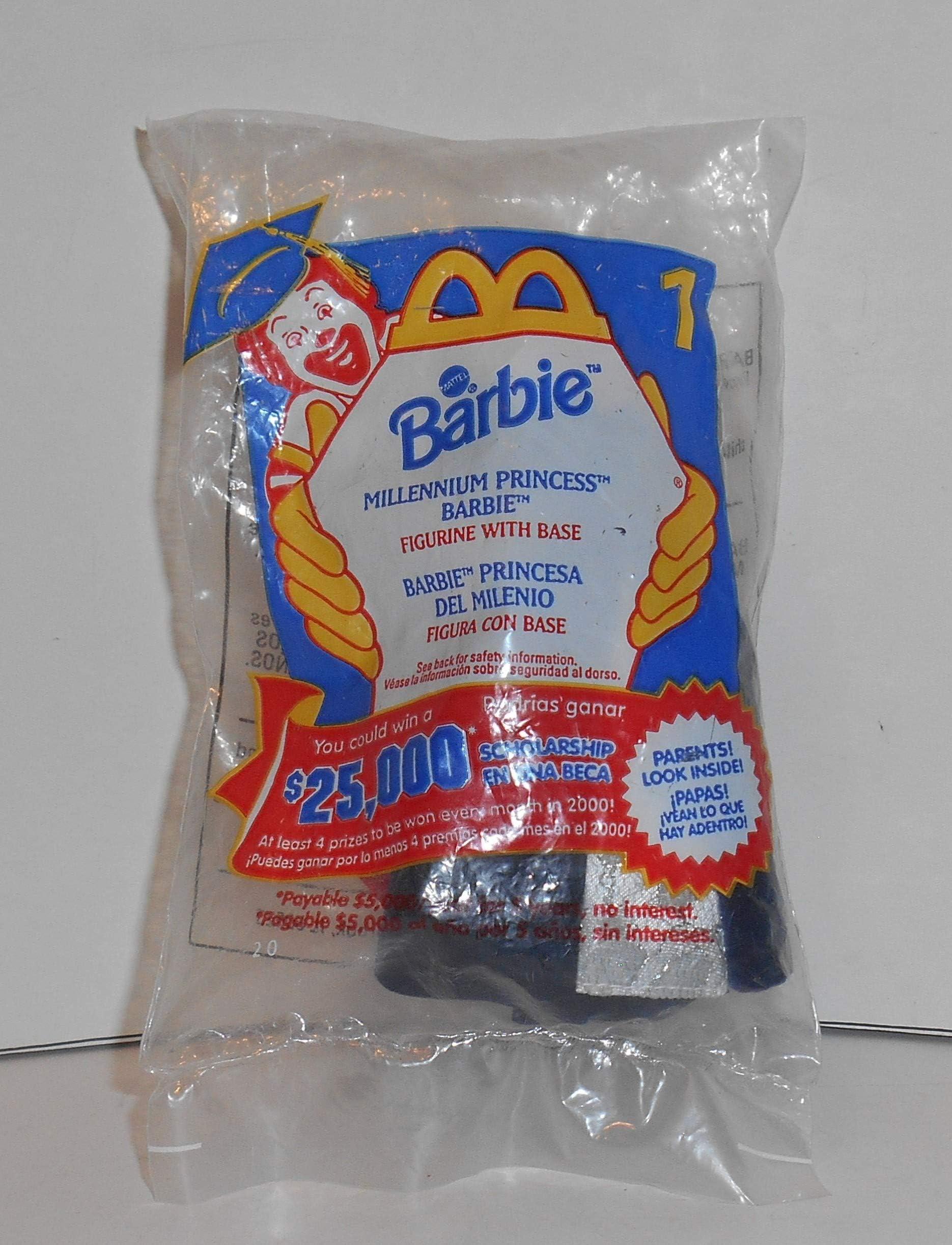 1999 Millenium Princess BARBIE Figure NEW Doll McDonald/'s HAPPY MEAL Kids TOY #1