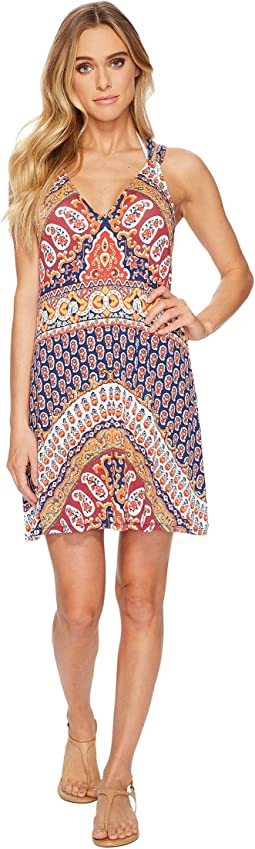 Super Fly Paisley Short Dress Cover-Up