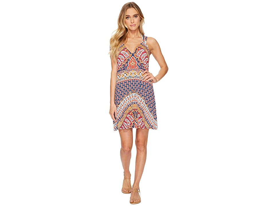 Nanette Lepore Super Fly Paisley Short Dress Cover-Up (Multi) Women