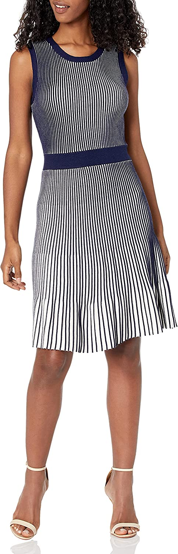 Cable Stitch Women's Sleeveless Pleat Dress