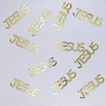 Metallic Confetti Word - JESUS in 12 Colors (Also Available in Paper) #4235