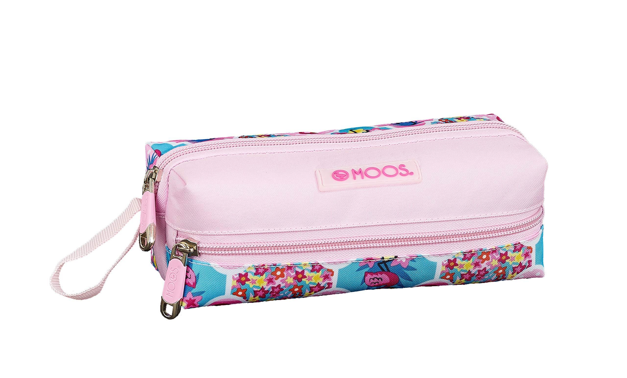 Moos Flamingo Pink Oficial Estuche Escolar 200x80x70mm: Amazon.es: Oficina y papelería