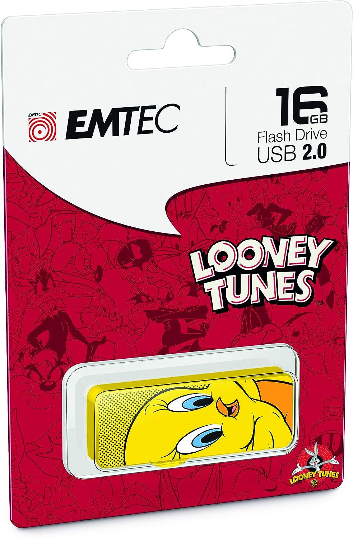 Emtec M700 Flash Drive, 16GB, Tweety Bird, Yellow, ECMMD16GM700L