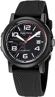 Nautica Men's Quartz Silicone Strap, Black, 20 Casual Watch (Model: NAPEPF108)