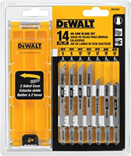 DEWALT Jigsaw Blades Set with Case, T-Shank, 14-Piece (DW3742C)