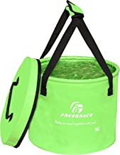 Freegrace Premium Collapsible Bucket Compact Portable Folding Water Container - Lightweight & Durable - Includes Handy Tool Mesh Pocket