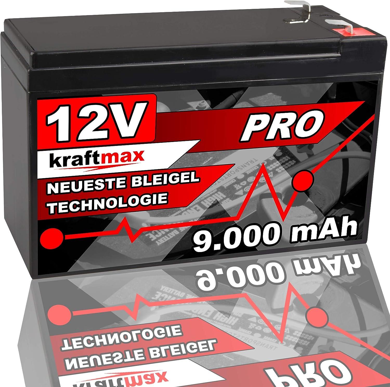 Powery Bleiakku MP1236H kompatibel mit Panasonic Typ LC-R127R2PG1 12V 9Ah