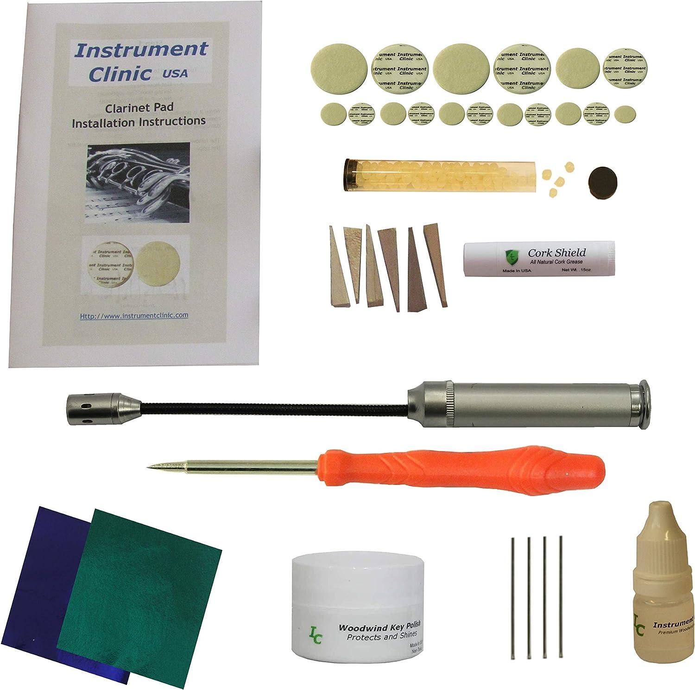 Instrument Clinic Clarinet Pad Kit Bombing new work Instructions ...