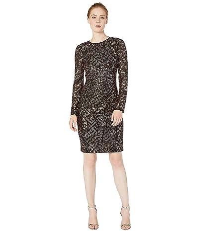Maggy London Sequin Sheath Dress (Black/Rose) Women