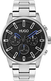 Hugo Boss Men'S Black Dial Stainless Steel Watch - 1530151