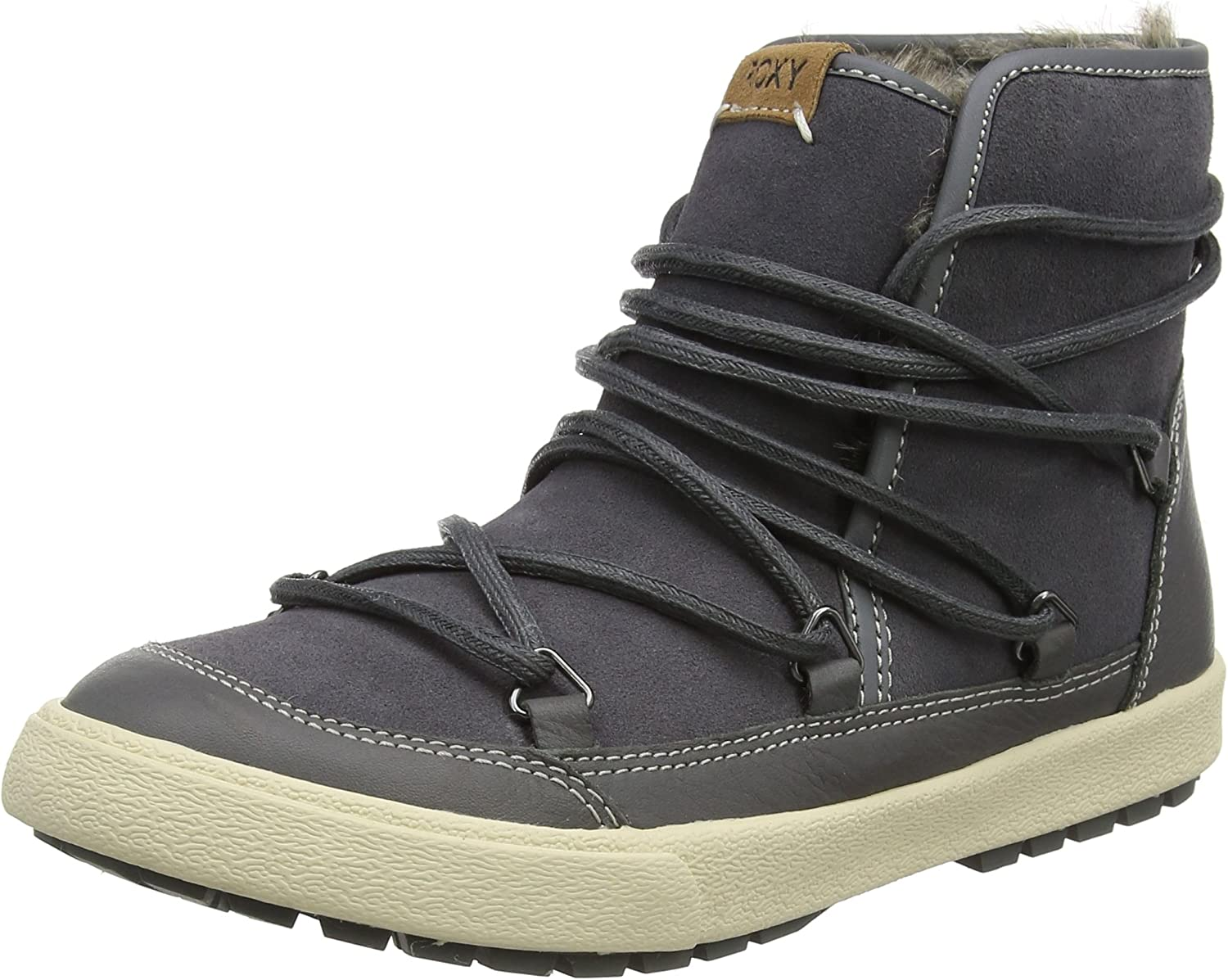 Roxy Boots Darwin Leather Snow Boots - C. Grey