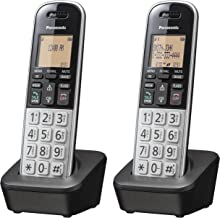 """$34 » Panasonic Compact Cordless Phone with DECT 6.0, 1.6"""" Amber LCD and Illuminated HS Keypad, Call Block, Caller ID, Multiple ..."""