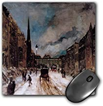 SHAQ Mouse Pad Street Scene with Snow 57Th Street New York City by Robert Henri Mouse Pad 8.6 X 7.1 in