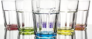 Rainbow Illusion Modern Colored Water/Beverage Glasses 6-Piece Set 10 1/4 oz. transparent TRF90HM