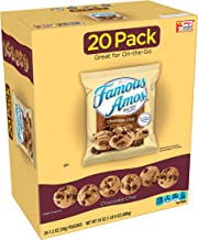 Famous Amos Cookies, Bite Size Chocolate Chip, Single Serve, 20 Count(Pack of 4)