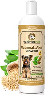 Oatmeal Dog Shampoo with Aloe Vera and Vitamin E - Hypoallergenic Dog Shampoo for Pets with Dry, Sensitive or Itchy Skin -...