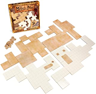 The Master's Atlas (Blank/Parchment)   44 Reversible Dry & Wet Erase Map Grid Tiles   48 Dungeon Object Tokens: Treasure, ...