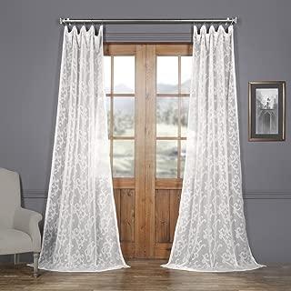 SHCH-11745-108 Patterned Linen Sheer Curtain, Paris Scroll, 50 x 108