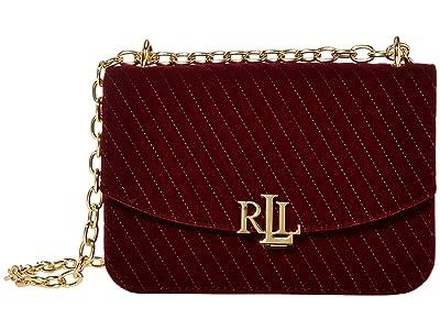 LAUREN Ralph Lauren Madison 22 Medium Crossbody (Bordeaux) Handbags