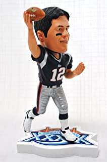 New England Patriots Official NFL #12 Tom Brady rare SUPER BOWL 39 action Bobble Head