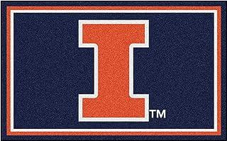 FANMATS NCAA University of Illinois Fighting Illini Nylon Face 4X6 Plush Rug