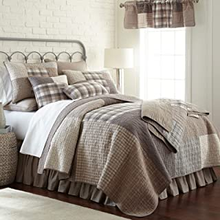 King Bedding Set - 3 Piece - Smoky Square by Donna Sharp - Contemporary Quilt Set with King Quilt and Two Standard Pillow Shams - Machine Washable