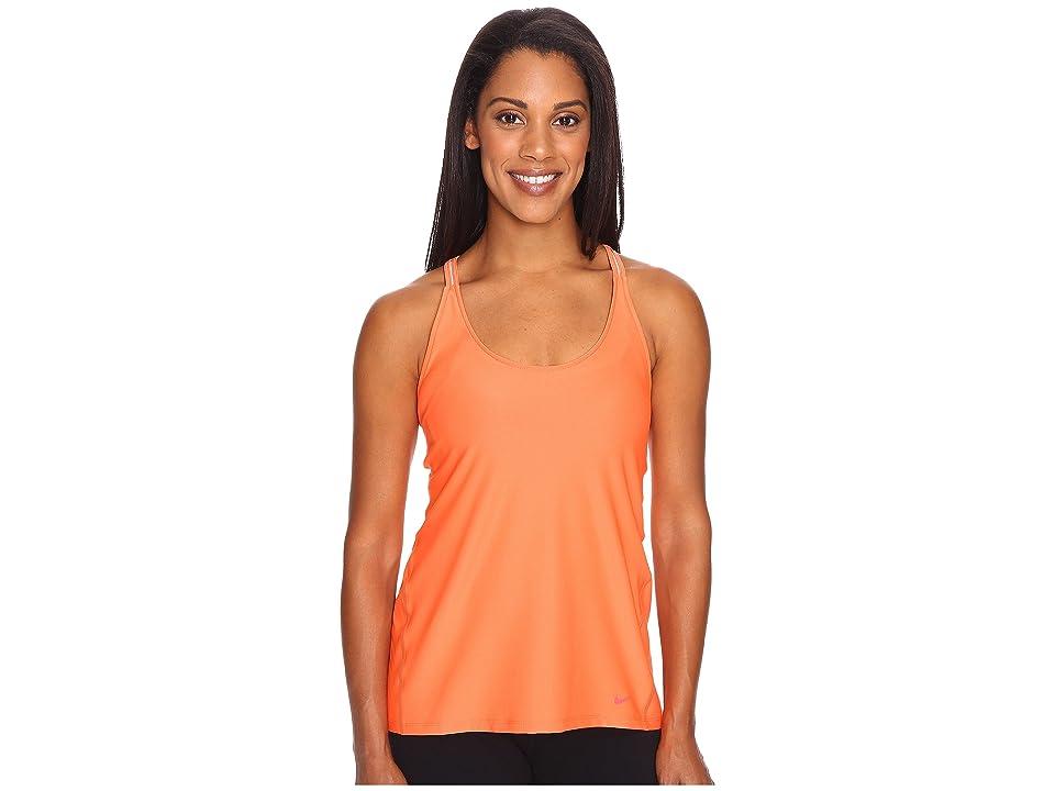 Nike Strappy Training Tank (Turf Orange/Ember Glow) Women