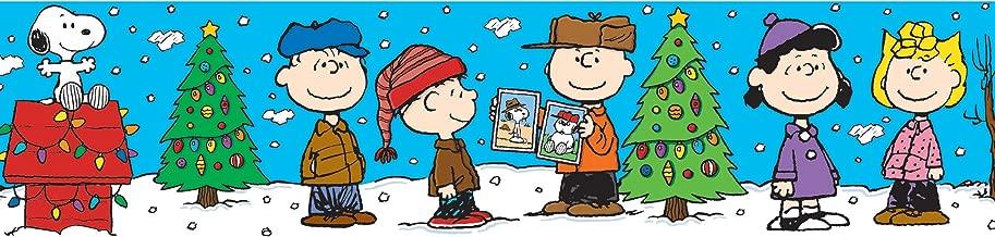 Eureka Peanuts Gang Christmas Deco Trim, Set of 12 Reusable Strips, Each Strip Measuring 37
