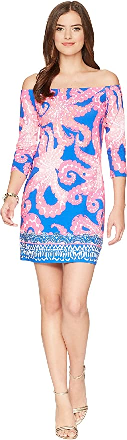 e22bbb30830e40 Ikat Blue Mocean Engineered. 23. Lilly Pulitzer. Laurana Off The Shoulder  Dress