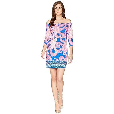 Lilly Pulitzer Laurana Off The Shoulder Dress (Ikat Blue Mocean Engineered) Women