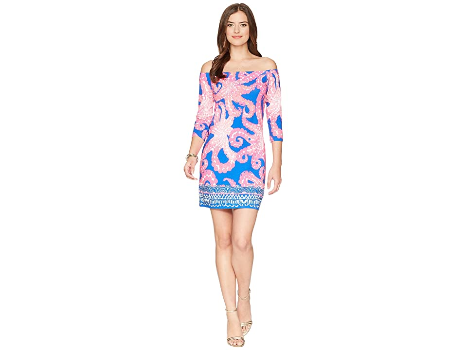 Lilly Pulitzer Laurana Off The Shoulder Dress (Ikat Blue Mocean Engineered) Women