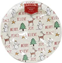 Rae Dunn LL Christmas Icon MERRY BELIEVE JOY PEACE 16 Count Disposable Paper Dessert Plates