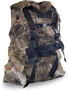 REEKGET Adjustable Shoulder Strap Camo Hunting Bags Mesh Decoy Bag Duck Goose Turkey Hunting Back,Large-Capacity Bait Bag,Drake Decoys Bag