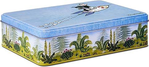 Mała blaszana puszka na Krecik, metal, niebieska, 21 x 5,5 x 15 cm