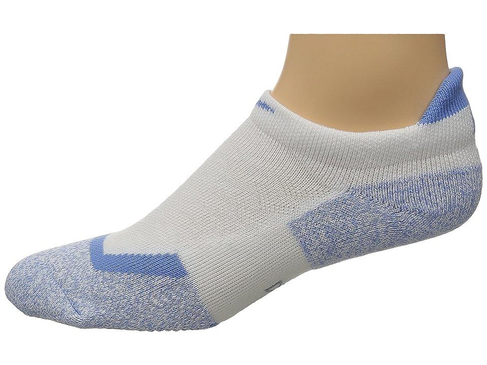 Nike Elite Tennis No Show (White/Chalk Blue/Chalk Blue) No Show Socks Shoes