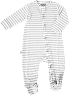 Woolino Footie Sleeper, 100% Superfine Merino Wool Sleeper, 6-9 Months, Gray