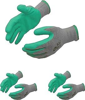 SAFEYURA Unisex Reusable Gardening Gloves (Green) -Pack of 3 Pairs