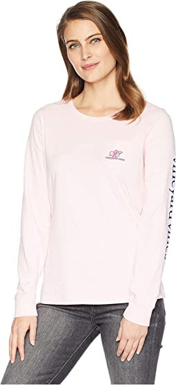 Long Sleeve BCA Whale Ribbon Pocket Tee