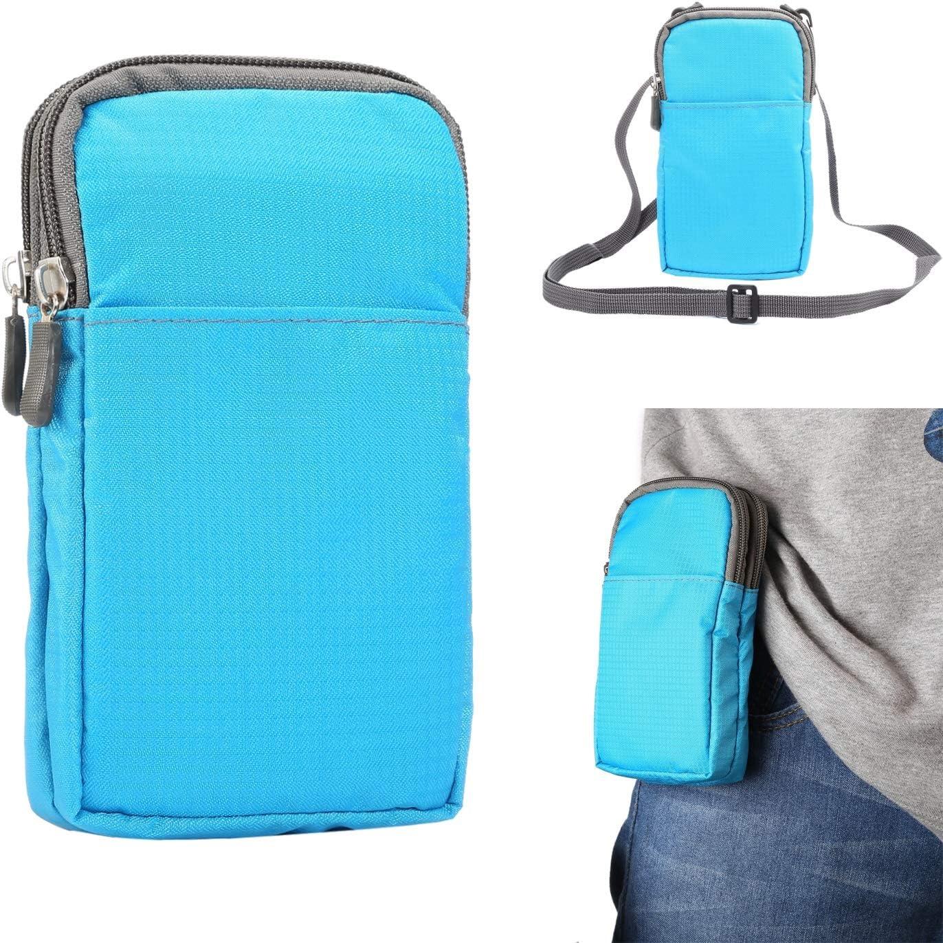 Sports Running Belt Waist Pack, Small Crossbody Bags for Men Women, 6.0 Inch Phone Wallet Case Pouch Shoulder Bag Belt Clip Holster Waist Bag Travelling Money Cell Phone Holder ( Color : Baby Blue )