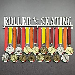 MEDALdisplay Roller Skating - Medagliere da Parete - Porta medaglie Pattinaggio a Rotelle - Sport Medal Hanger - Display R...