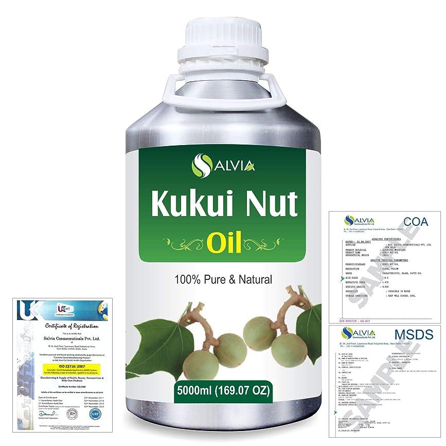 ファブリック嫌悪固めるKukui Nut (Aleurites Moluccans) Natural Pure Undiluted Uncut Carrier Oil 5000ml/169 fl.oz.
