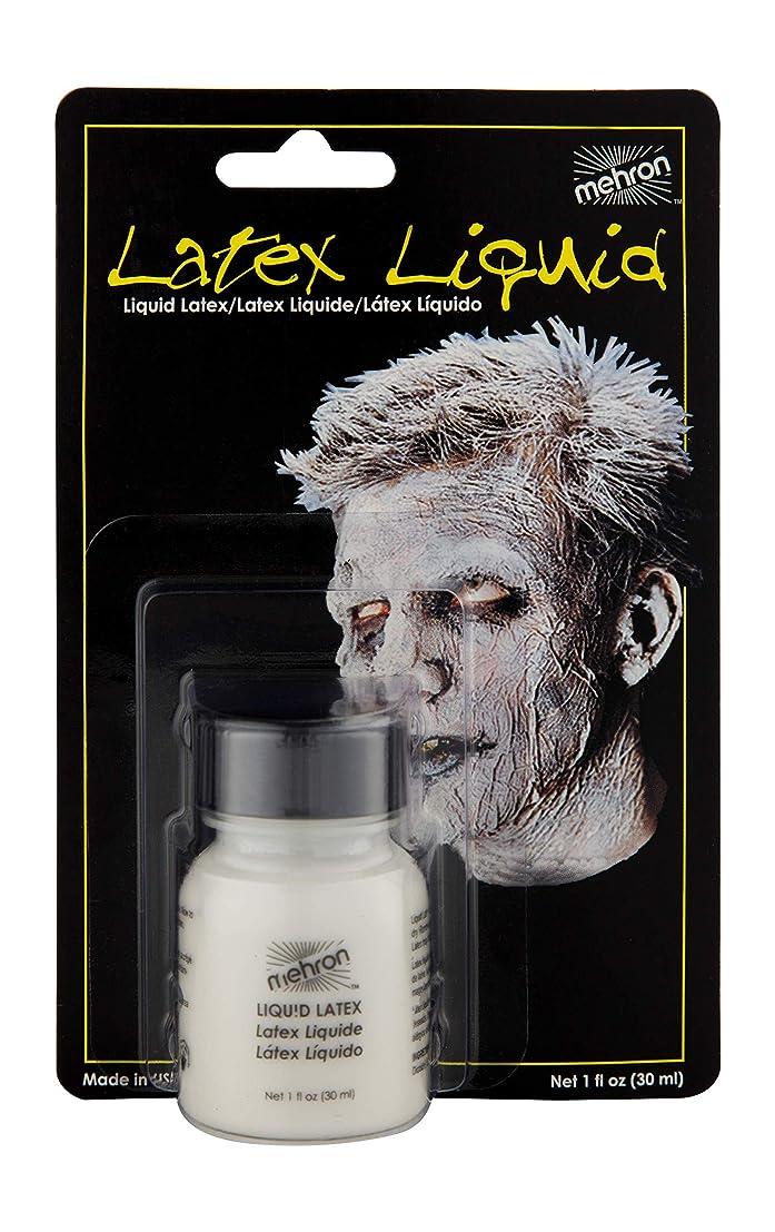 廃止する詳細な昼食Latex Liquid 1 oz with Brush - Clear by Mehron [並行輸入品]