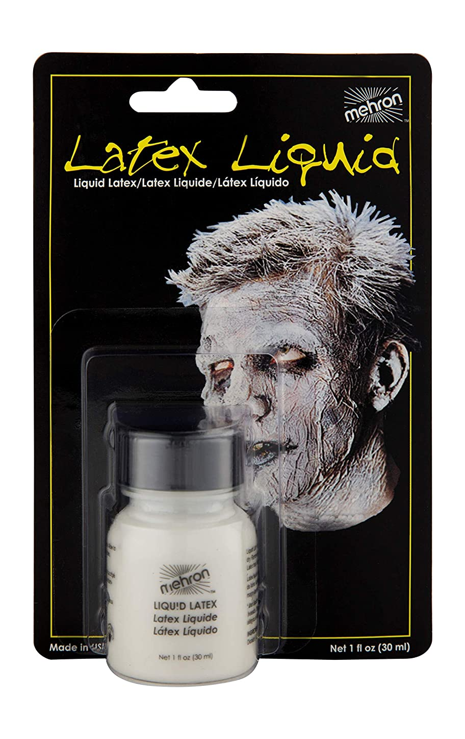 欠乏参加者反乱Latex Liquid 1 oz with Brush - Clear by Mehron [並行輸入品]