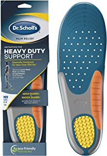 Dr. Scholl's Heavy Duty Support Pain Relief Orthotics, Designed for Men over 200lbs with Technology to Distribute Weight a...
